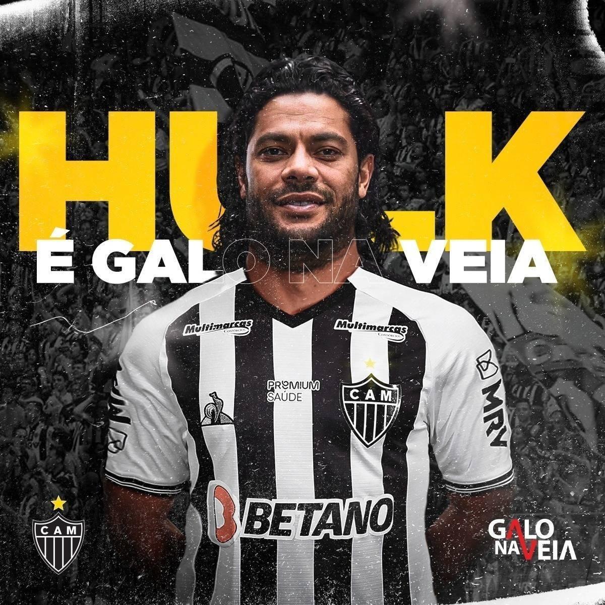 Hulk assina contrato de dois anos com o Atlético-MG e receberá premiações e bônus altos no clube