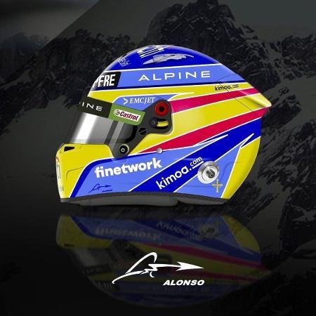 Alonso mostra detalhes de seu capacete para 2021 - Instagram