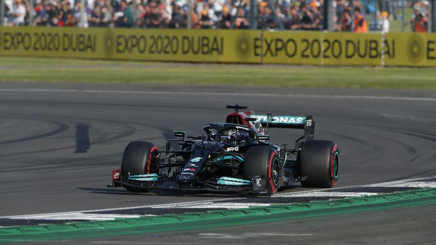 Lewis Hamilton, durante treino classificatório do GP da Inglaterra - REUTERS/Andrew Couldridge