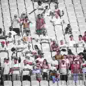 Imagem da torcida do São Paulo, que compareceu na Arena para o clássico contra o Corinthians, pelo Paulistão - Ricardo Nogueira/Folhapress