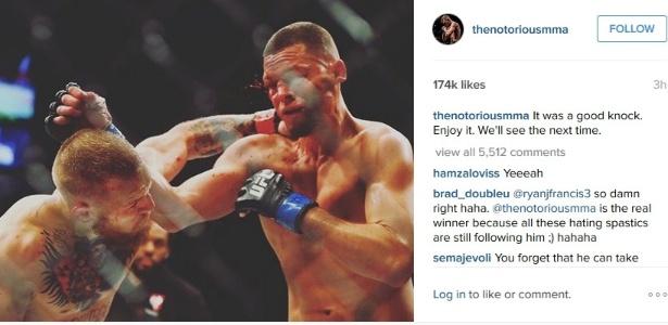McGregor mandou recado para Diaz em seu Instagram - Reprodução/Instagram/McGregor