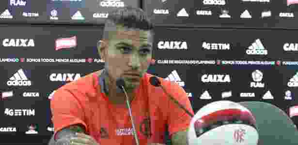 Paolo Guerrero está fora do time do Flamengo no decisivo jogo contra o Fortaleza - Gilvan de Souza/ Flamengo