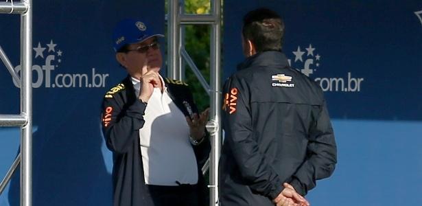 Coronel Antônio Nunes não assistiu ao treino da seleção brasileira nesta quarta-feira
