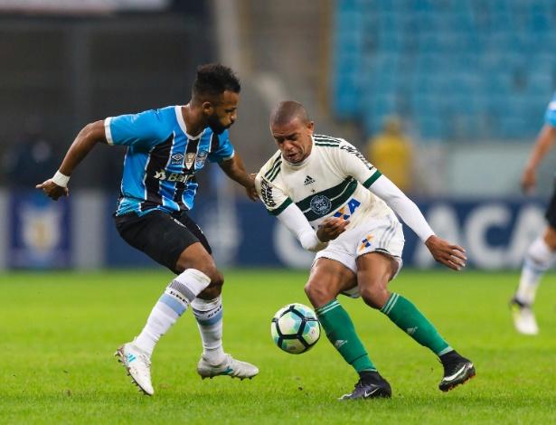 Defesa do Coritiba não segurou o ataque do Grêmio em Porto Alegre