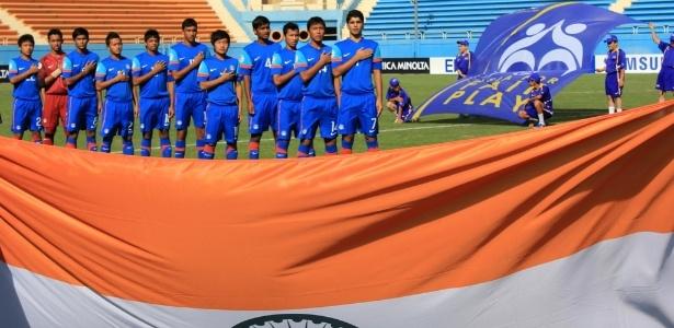 De olho no Mundial Sub-20 de 2019, seleção sub-17 da Índia (foto) disputaria divisão de acesso do Campeonato Português sub-19 nos próximos dois anos