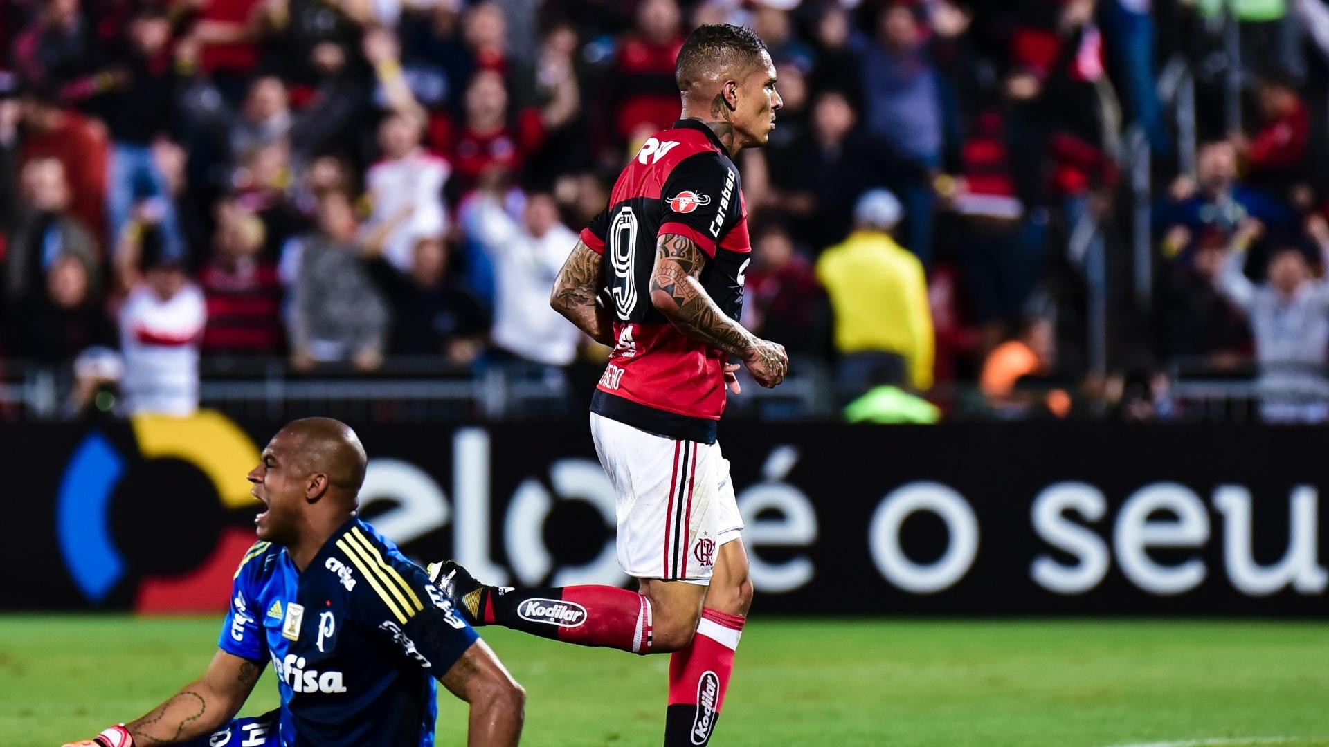 Guerrero empata para o Flamengo contra o Palmeiras na Ilha do Urubu