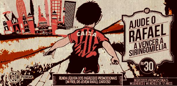 Arrecadação dos ingressos promocionais serão destinados ao tratamento de Rafael Cardoso