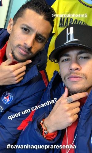 Neymar apresenta o cavanhaque antes de jogo contra o Strasbourg