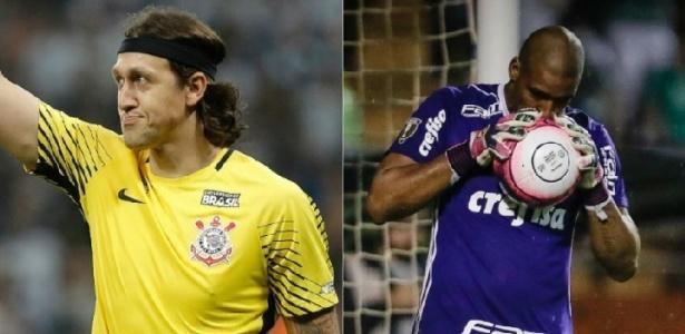 Cássio e Jailson fazem um duelo particular na final entre Corinthians e Palmeiras