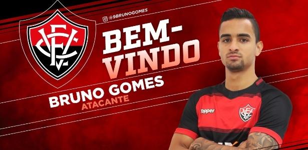 Bruno Gomes ficou quase dois meses no Vitória e não estreou - Divulgação/EC Vitória
