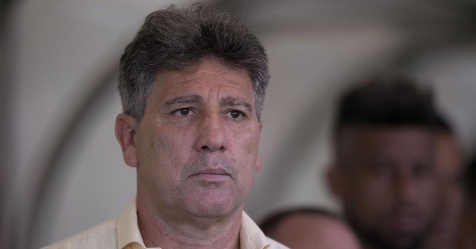 Renato Gaúcho, técnico do Grêmio, durante jogo contra o Atlético-MG