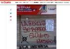 Torcida rival da Chape na Sul-Americana ameaça jogar bombas para adiar jogo - Reprodução/La Cuarta
