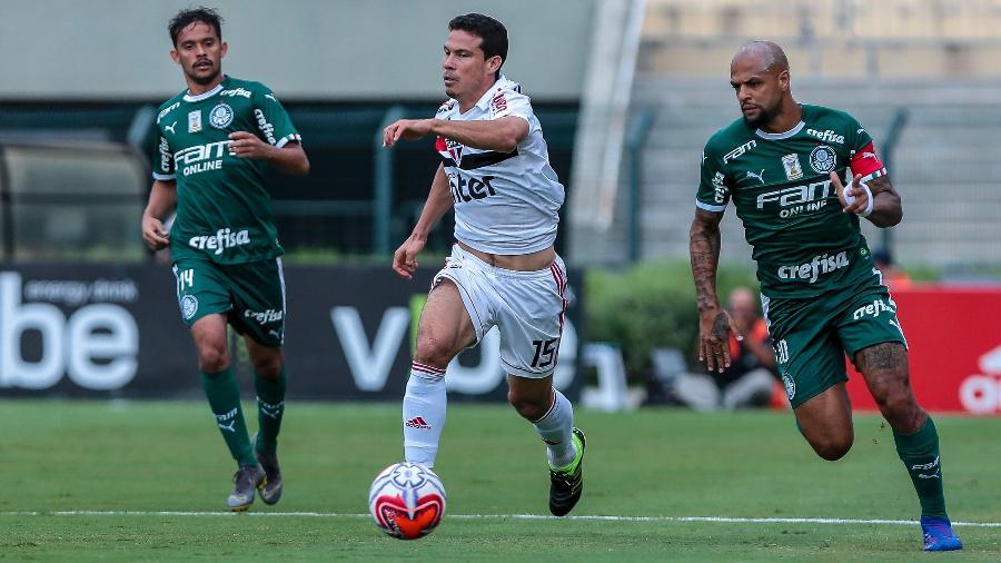Hernanes sentiu a lesão durante o clássico com o Palmeiras - Ale Cabral/Agif