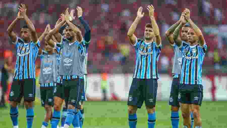 Time do Grêmio pode terminar o Gauchão como melhor defesa da história do torneio - Lucas Uebel/Grêmio FBPA