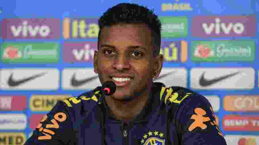 Rodrygo em coletiva de imprensa com a seleção brasileira - Pedro Martins / MowaPress