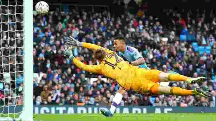 Lance do quarto gol do Manchester City no domingo - o segundo de Gabriel Jesus - Divulgação