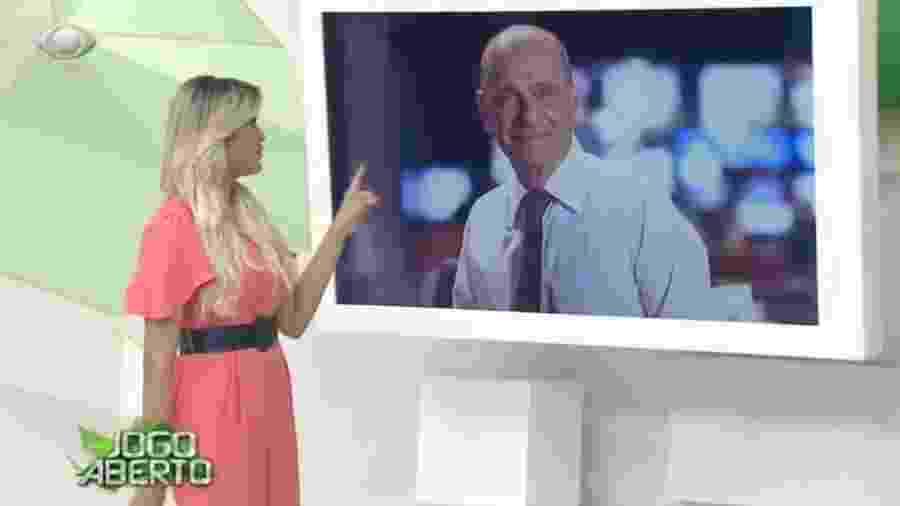 Renata Fan homenageia Ricardo Boechat durante Jogo Aberto - Reprodução/Bandeirantes