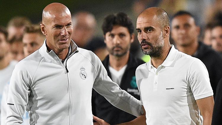 Zidane conta que 'aprendeu muito' com Pep Guardiola e elogia espanhol