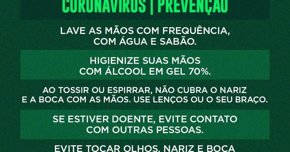 Coronavírus Palmeiras