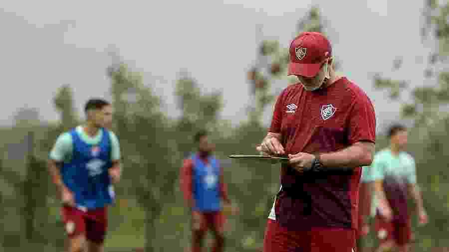 """Com desfalques no Fluminense, Odair Hellmann deve recorrer aos """"moleques de Xerém"""" contra o Internacional - Lucas Merçon/Fluminense FC"""