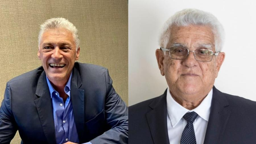 Marco Túlio, da oposição da CBV, e Toroca, atual presidente - Divulgação