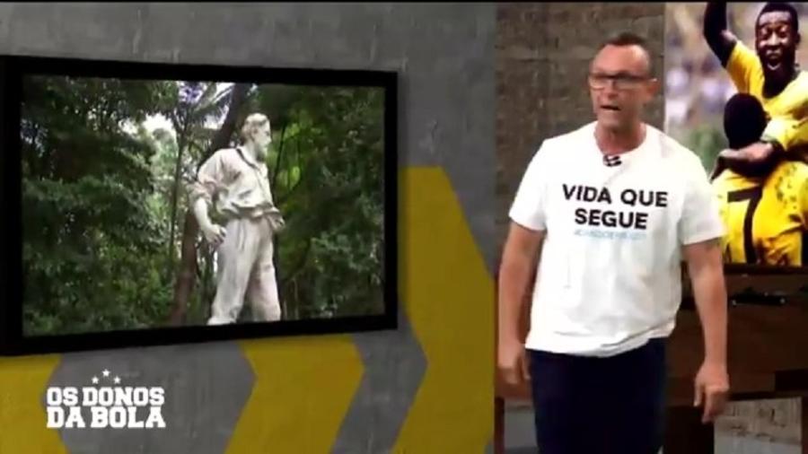 """Neto comentou sobre tema no """"Os Donos da Bola"""" - Reprodução/TV Band"""