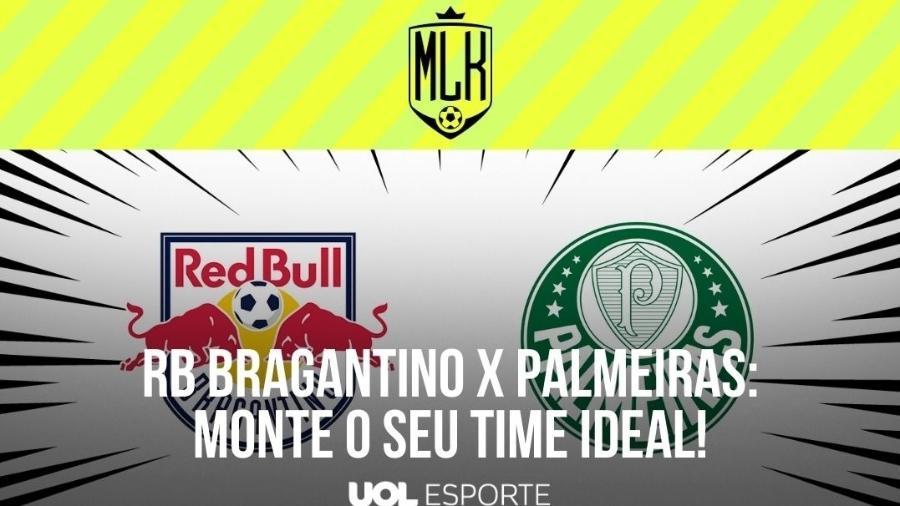 RB Bragantino e Palmeiras se enfrentam pelas quartas de final do Paulistão, no estádio Nabi Abi Chedid, às 19h30 (de Brasília) - Arte/UOL