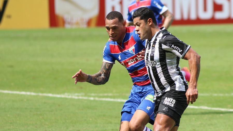 Galo do atacante Hulk foi surpreendido na estreia do Brasileirão pelo Fortaleza, que venceu no Mineirão - Fernando Moreno/AGIF