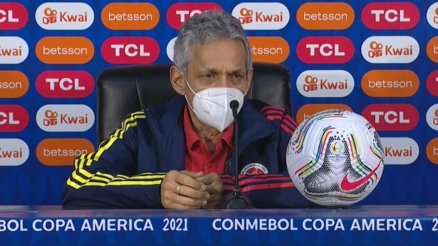 Reinaldo Rueda, técnico da seleção da Colômbia, pede valorização de terceiro lugar - Reprodução/Conmebol