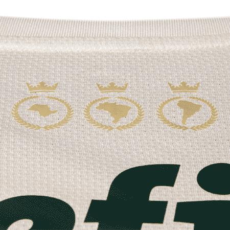 Detalhe da nova camisa alternativa do Palmeiras faz referência à tríplice coroa - Divulgação/Puma - Divulgação/Puma