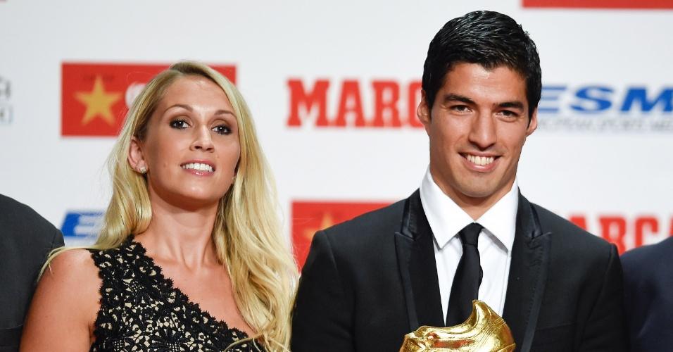 Sofia acompanha Suárez nas premiações do marido