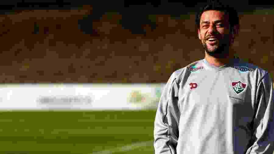 O atacante durante sua última passagem pelo clube, que se encerrou em 2016 - NELSON PEREZ/FLUMINENSE F.C.