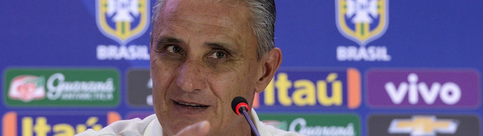 Tite concede entrevista coletiva antes do jogo da seleção brasileira contra a Colômbia