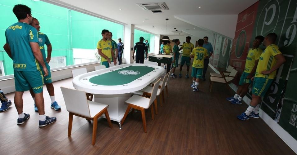 Palmeiras mesa de poker jogadores Academia de Futebol