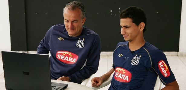 Dorival e Ganso quando trabalharam juntos no Santos na temporada 2010