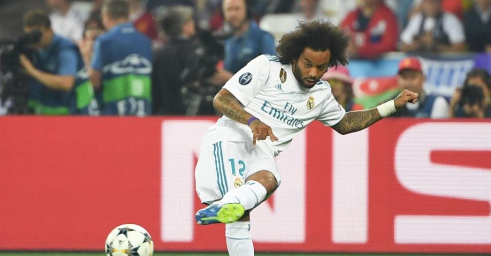 Marcelo em ação durante a final da Liga dos Campeões