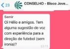 Dirigente do Coritiba debate indicação de gerente no WhatsApp e é criticado - Reprodução