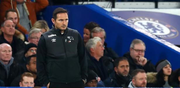 Frank Lampard interrompeu o treino do Derby County por suspeita de espionagem