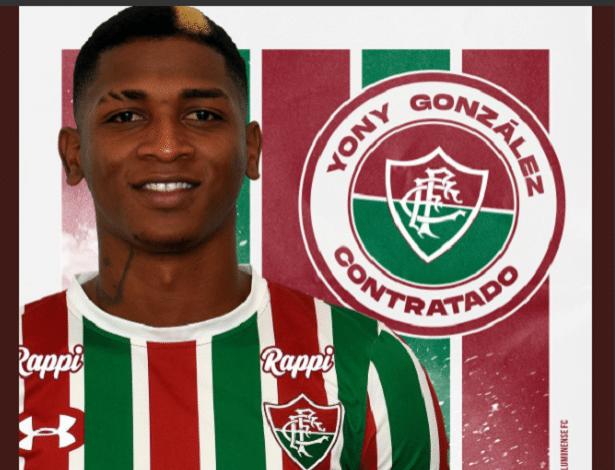 Yony González é o quinto reforços do Fluminense para a temporada 2019 - Reprodução/Twitter