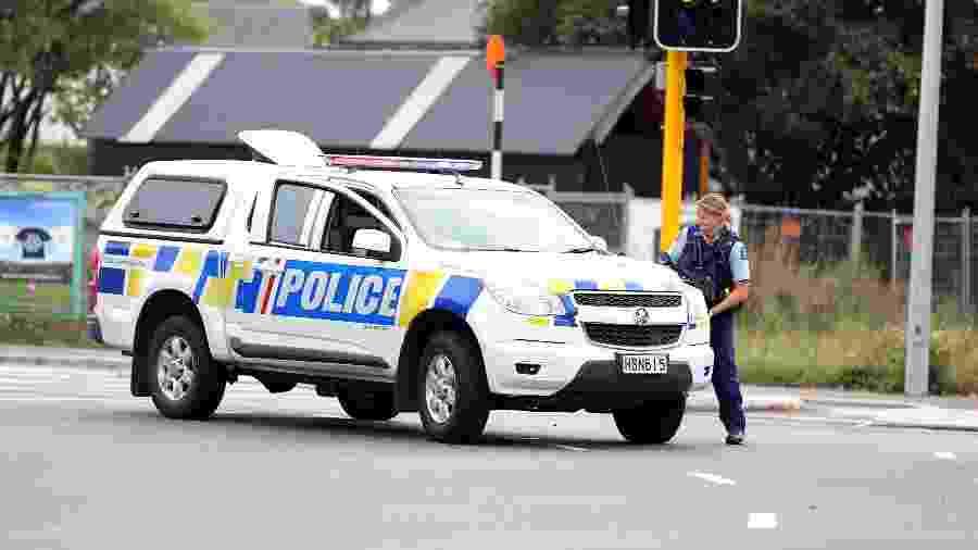 Polícia faz ronda após ataques a mesquitas em Christchurch  - AFP