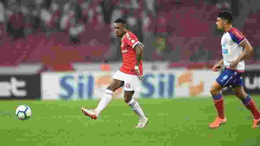 Edenílson, durante partida entre Inter e Bahia - Ricardo Duarte/Internacional