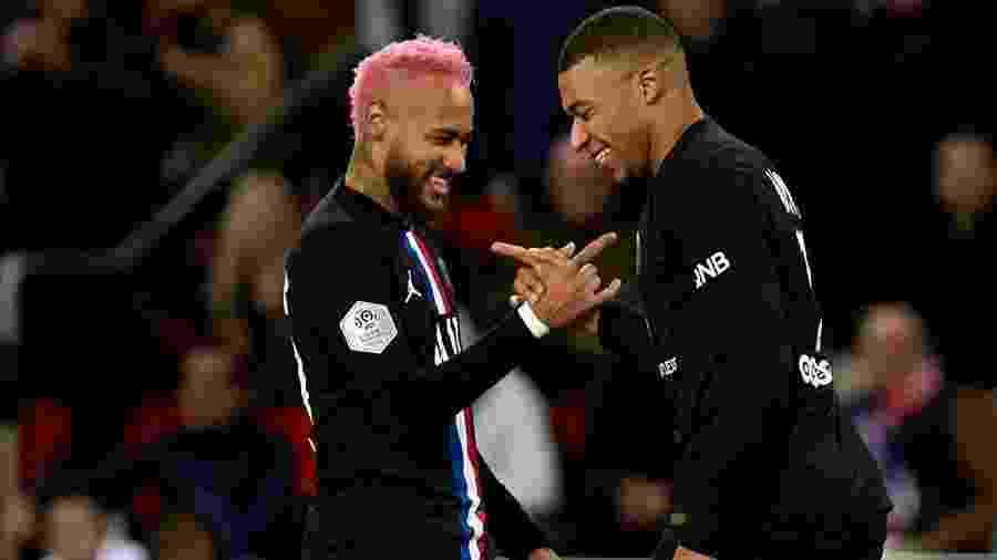 PSG de Neymar e Mbappé foi declarado campeão francês da temporada 2019/20 - Quality Sport Images/Colaborador