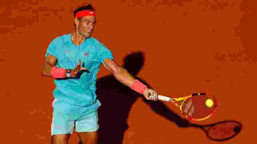 Rafael Nadal durante semifinal de Roland Garros contra o argentino Diego Schwartzman - Clive Brunskill/Getty Images