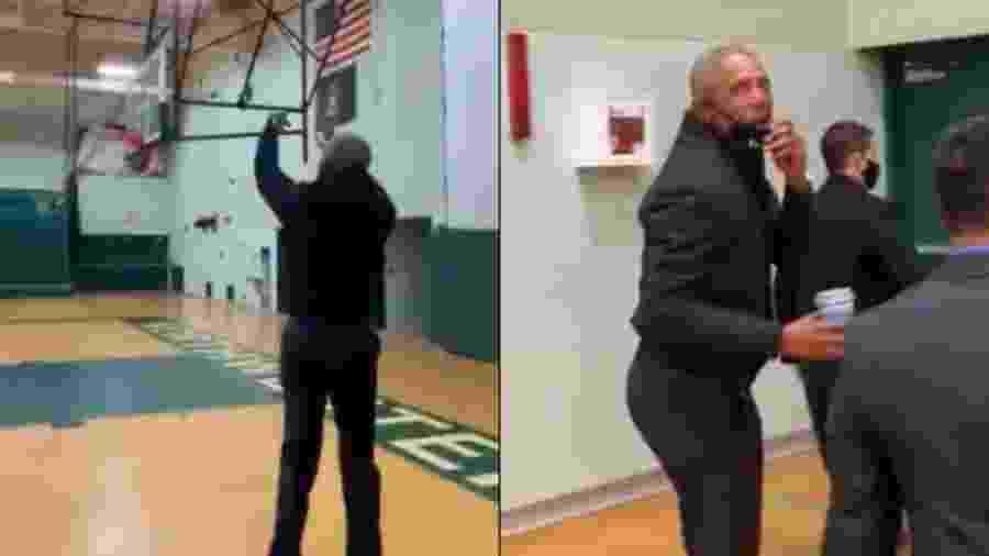 Barack Obama impressiona por habilidade no basquete em campanha ao lado de Joe Biden - Reprodução/Instagram