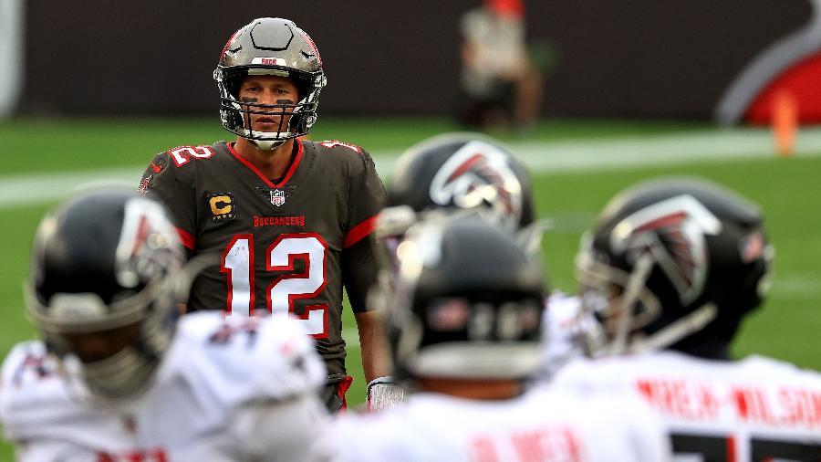 Astro Tom Brady disputa playoffs pela primeira vez com o Tampa Bay Buccaneers - Mike Ehrmann/Getty Images