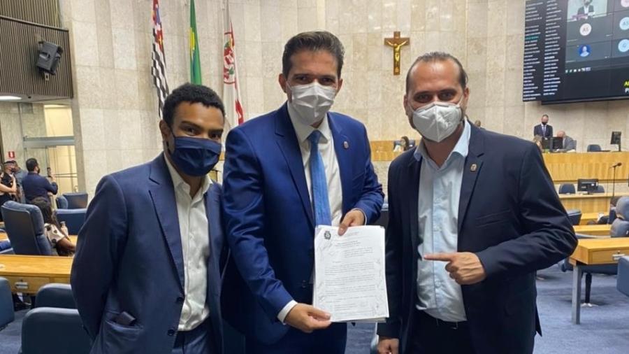 Vereadores Fernando Holiday, Rubinho Nunes e Marlon Luz - Divulgação