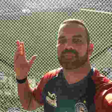 Diego Tavares, torcedor do Bahia, mostrando visão prejudicada no Allianz Parque - Arquivo pessoal/Diego Tavares - Arquivo pessoal/Diego Tavares