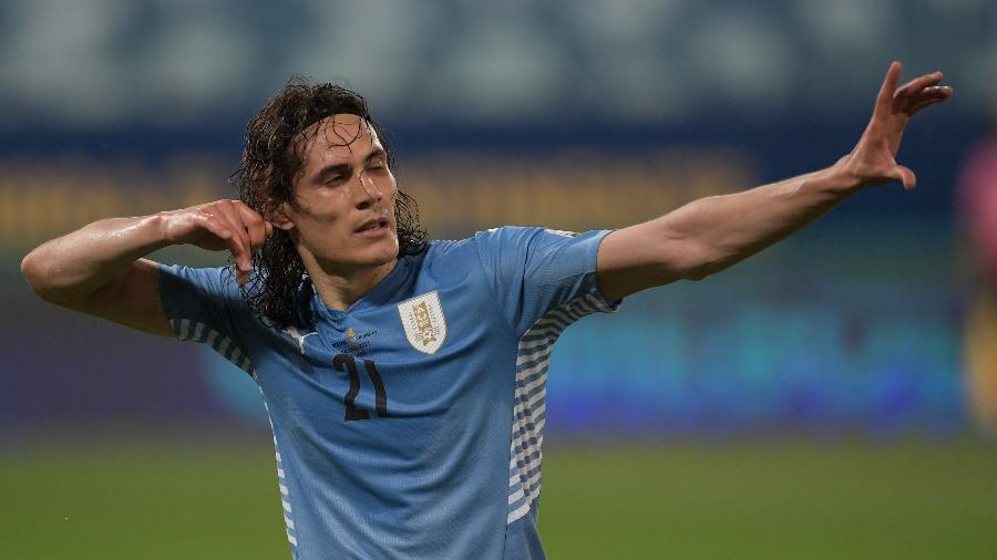 Cavani não conseguiu levar a seleção uruguaia adiante na Copa América de 2019 - Twitter da Copa América