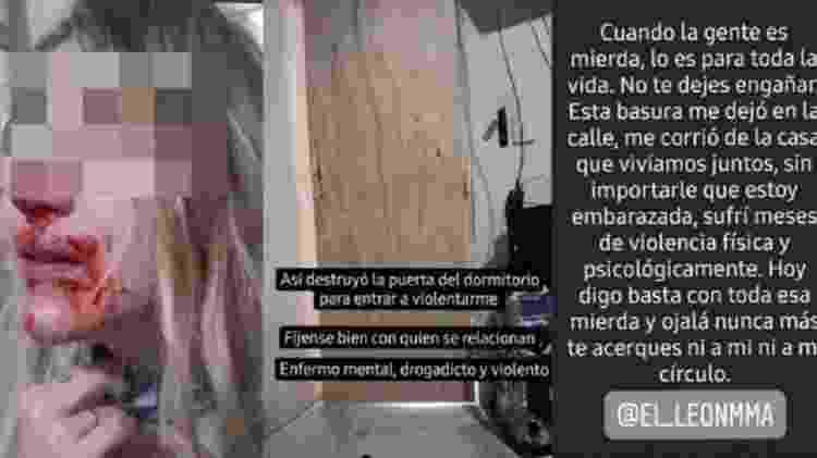"""Mulher detalhou drama vivido no relacionamento com o lutador Juan """"El León"""" Varela - Reprodução - Reprodução"""