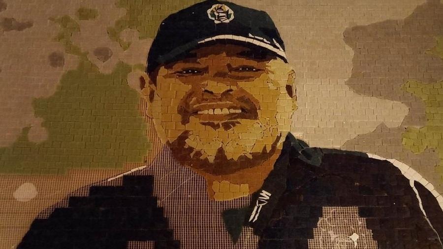 Mural em homenagem a Maradona que será inaugurado nesta quarta (15) pelo Gimnasia - Divulgação Gimnasia